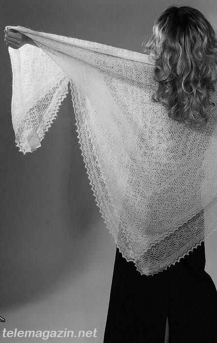 Вязать шали, платки спицами
